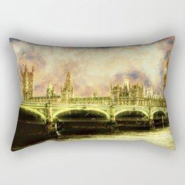Abstract Golden Westminster Bridge in London Rectangular Pillow