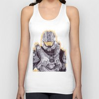 master chief Tank Tops featuring Halo Master Chief by DeMoose_Art
