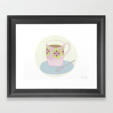 Retro Coffee Framed Art Print