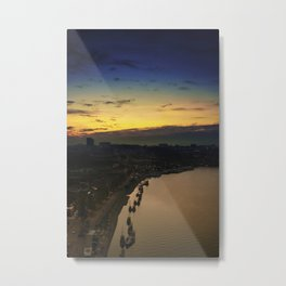 From the top of the bridge. Porto, Portugal. Metal Print