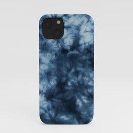 Dark Midnight Blue Boho Tie Dye Pattern iPhone Case