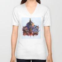 evangelion V-neck T-shirts featuring Evangelion by ururuty