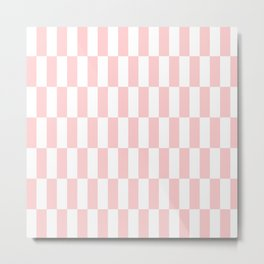 Pink Blocks pattern Metal Print