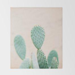 "Cactus photo print ""Botanical cactus"" Morocco | Modern Wall art | Pastel / Botanical Throw Blanket"