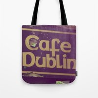 irish Tote Bags featuring Irish Pub by Eirin Wie Haveland