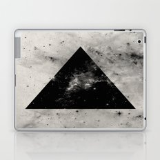 Triangular Universe - Abstract, geometric black and white space painting Laptop & iPad Skin