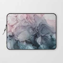 Blush and Paynes Gray Flowing Abstract Reflect Laptop Sleeve