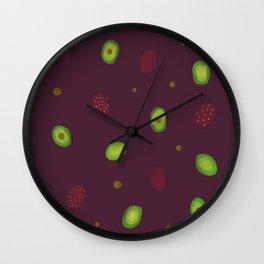 Thinking Avocado Wall Clock