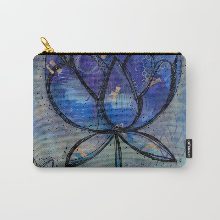 Abstract - Lotus flower - Intuitive Carry-All Pouch