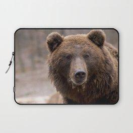 Beautiful Brown Bear Laptop Sleeve