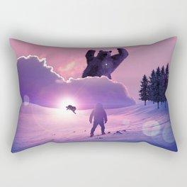Snowball against Bear by GEN Z Rectangular Pillow