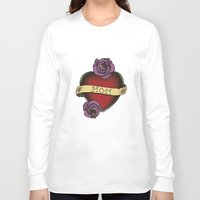 mom Long Sleeve T-shirts featuring Mom by CCL Works
