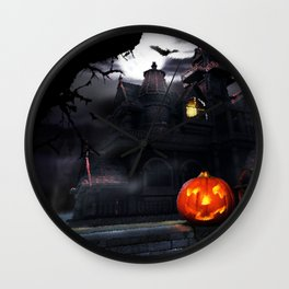 Happy Screaming Halloween Wall Clock