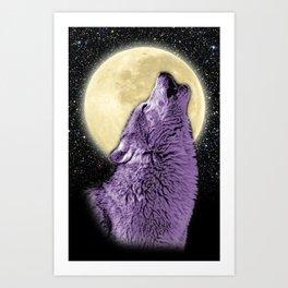 Wolf Howl Art Print