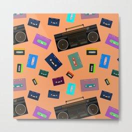 Retro Radio Cassette Player   BoomBox Metal Print