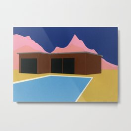California Summer House Metal Print
