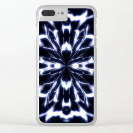 Geometric background with symmetrical figures. Clear iPhone Case