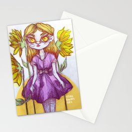 Sunflower Doll Stationery Cards