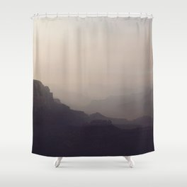 Smoky Hazy Sunset in the Grand Canyon Shower Curtain