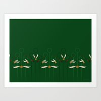Catch the Snitch for Slytherin Art Print