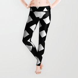 Black and White Lattice Leggings