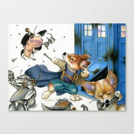 Corgi Doctor Who Canvas Print