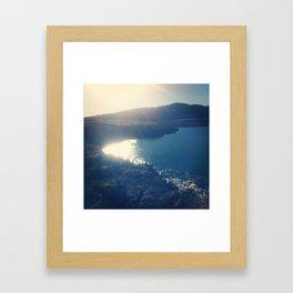 Sun, sea and seals Framed Art Print