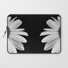 Half Daisy in Black and White Laptop Sleeve