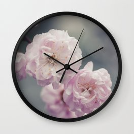 Flowering Almonds Wall Clock