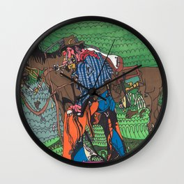 One of a Kind Cowboy Wall Clock