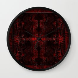 Snake Skin In Red Wall Clock