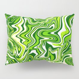 Green Glitter Agate Slice Pillow Sham