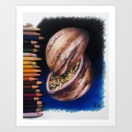 """Jupiter Passionfruit"" Drawing Art Print"
