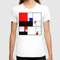 fibonacci T-shirts featuring Neo-Plastic-Fibonacci-1 by AMO Design