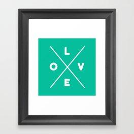 LOVE Criss-cross Framed Art Print