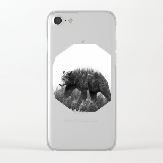 Walking trough the forest Clear iPhone Case