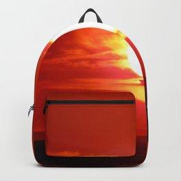 Heart Shaped Sunset Backpack