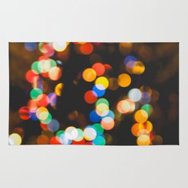 Christmas lights bokeh Rug