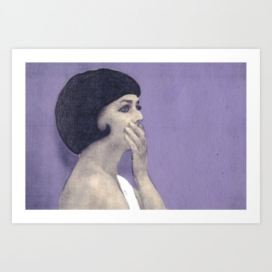 the bride wore black Art Print