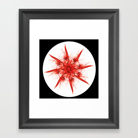 Smoke Flower 1 Framed Art Print