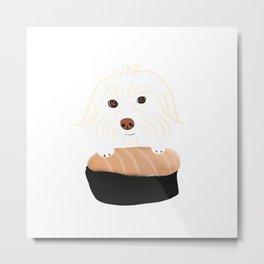 Sushi Dog Metal Print