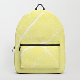Paris France Minimal Street Map - Yellow on White Backpack