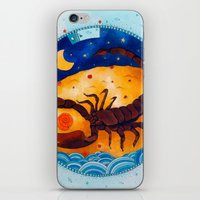 scorpio iPhone & iPod Skins featuring Scorpio by Sandra Nascimento