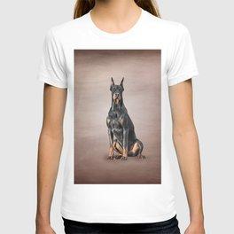 Drawing Doberman dog T-shirt