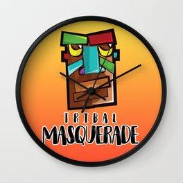 Tribal Masquerade Wall Clock
