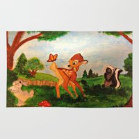 bambi Area & Throw Rugs featuring Bambi by Jadie Miller