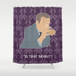 The Sign of Three - Greg Lestrade Shower Curtain