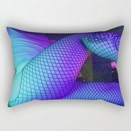 Fishnets in Sleepy Blue Rectangular Pillow
