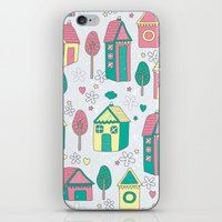 home sweet home iPhone & iPod Skins featuring Home by One April