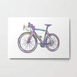 BICYCLE OF COLORS Metal Print